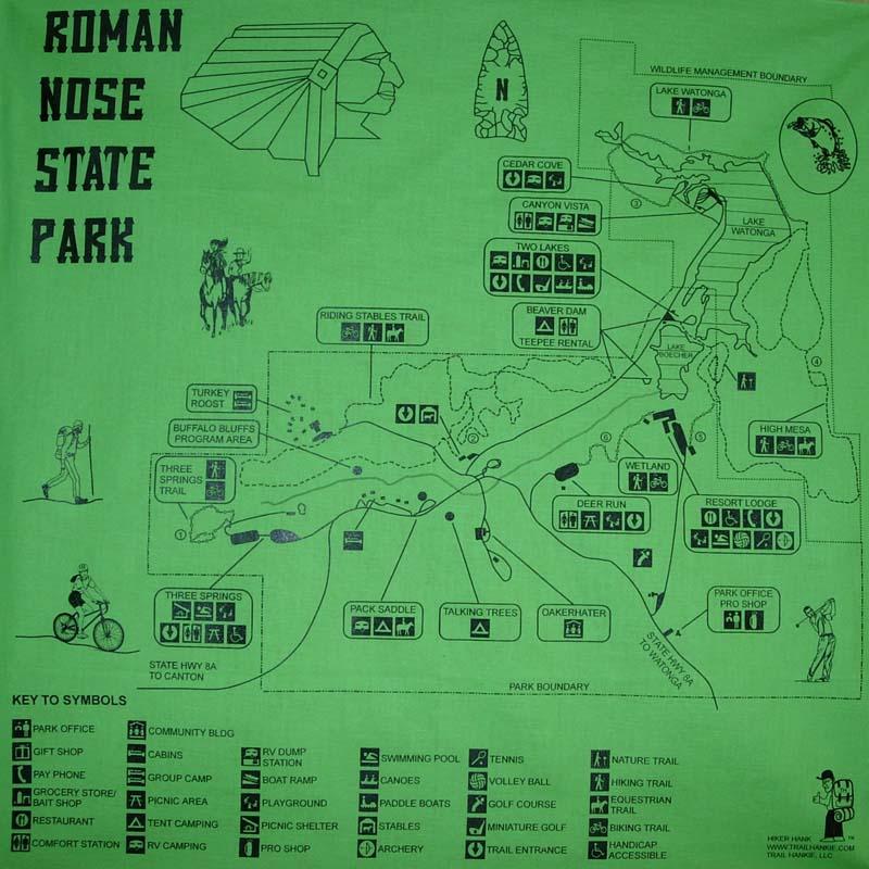 Roman Nose Trail Hankie Bandana